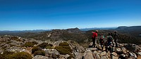 View from the top of Jerusalem Mountain, Walls of Jerusalem National Park, UNESCO World Nature Site, Tasmania, Australia