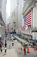 Wall Street, Downtown, Lower Manhattan, Manhattan, New York, USA