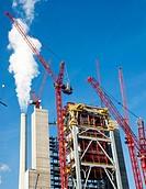 New construction of Block 9 of the GKM Mannheim Power Plant in Mannheim, Baden-Wuerttemberg, Deutschlsnd, Europe