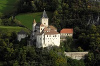 View of medieval Trostburg castle, Waidbruck, Valle Isarco, South Tyrol, Alto Adige, Italy, Europe