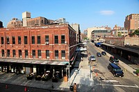 The street view of Meatpacking District in Manhattan  New York City  USA