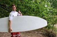 Surfer shaka salute
