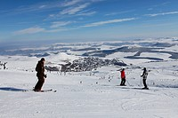 Super Besse ski resort, Parc Naturel Regional des Volcans d'Auvergne, Regional Nature Park of Volcans d'Auvergne, Monts Dore, Puy de Dome, Auvergne, F...