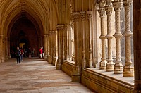 Cloister at Monastery of Santa Maria da Vitoria, Batalha Monastery, UNESCO World Heritage Site, Batalha, Leiria district, Estremadura, Portugal, Europ...