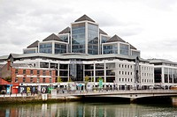 Headquarters of the Ulster Bank Group on the River Liffey in the financial district in Dublin, Ireland, Europe