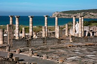 Roman ruins of Baelo Claudia - basilica, Tarifa, Cadiz-province, Spain,