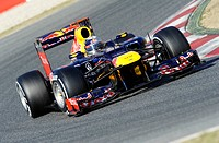 Sebastian Vettel, GER, Red Bull Racing-Renault RB8, Formula 1 testing sessions, February 2012, Barcelona, Spain, Europe