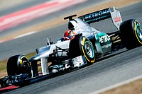 Michael Schumacher, GER, Mercedes AMG-Mercedes F1 W03, Formula 1 testing sessions, February 2012, Barcelona, Spain, Europe