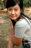 young lady with nice smile expression