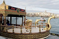 Detail of a ship in Bosforo river. City of Istanbul, Turkey