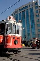 Tramway in west side. City of Istanbul, Turkey