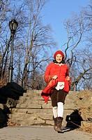 Hispanic woman in park