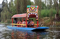 Xochimilco, Boats, Trajinera, Floating Gardens, Canals, UNESCO World Heritage Site, Mexico City, Mexico