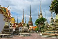 Thailand, Bangkok, Wat Pho, general view
