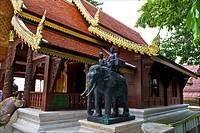 Thailand, Chiang Mai, wat phrathat doi suthep, royal statue