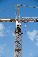 Construction Crane towards blue sky