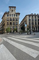 View of a history building in Madrid, Spain