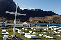 Cemetery in Grytviken, South Georgia island, South Georgia Islands, Antarctica