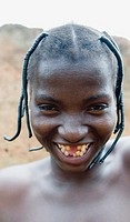 A smiling Somba  Betamaribe woman in Benin