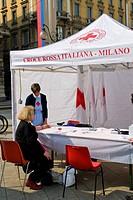giornata del rene, croce rossa italiana, milano, italia