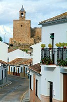 Street in Antequera town, Malaga province, Andalusia, Spain