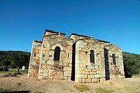 Visigothic church of Santa Luc&#237;a del Trampal, Alcu&#233;scar, Mont&#225;nchez-Tamuja, C&#225;ceres province, Extremadura, Spain