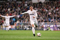Mesut Ozil, soccer player of Real Madrid  Santiago Bernabeu stadium  Real Madrid match against C D Español  Madrid, 04/03/2012