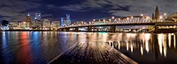 Panorama of Portland Oregon at Night