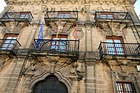 Town hall building facade, Briones village, La Rioja, Spain