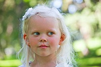 portrait of a young girl in a park, edmonton alberta canada
