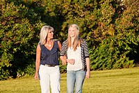 mother and daughter spending time together in a park, edmonton alberta canada