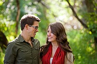 portrait of a newlywed couple in a park, edmonton alberta canada