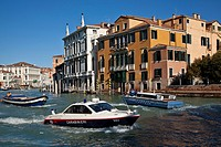 Police Boats on The Grand Canal, Venice, Italy