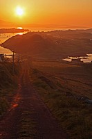 sunrise over crookhaven in west cork, county cork ireland