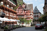 altes haus the oldest house, bacharach rhineland_palatinate germany