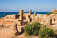 Algeria, Tipaza Wilaya, Tipasa of Mauretania ruins listed as World Heritage by UNESCO, old Punic trading post occupied by Rome, at the time strategic ...