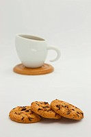 Cookies and coffee cup
