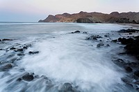 Spain, Andalusia, Almeria, Monsul beach, Natural Park of Cabo de Gata_Nijar