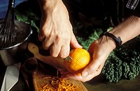 Making orange zests