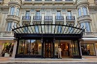 Principality of Monaco, Monaco, Monte Carlo, Societe des Bains de Mer de Monaco, Hotel Hermitage, square Beaumarchais entry, Compulsory Mention: Socie...