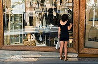 Australia, Victoria, Melbourne, downtown, luxury store on Collins Street