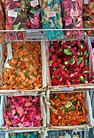 France, Alpes Maritimes, Grasse, Rue Jean Ossola, dried flowers used for potpourri