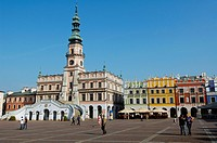 Poland, Lublin region, Zamosc, Renaissance city listed as World Heritage by UNESCO, built between 1580 and 1600 by italian architect Bernardo Morando,...
