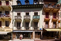 France, Haute Savoie, Chablais, Evian les Bains, pedestrian street