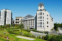 France, Paris, the former industrial mills in the 13th district built between 1917 and 1921 by Georges Wybo hosts the main library of University Paris...
