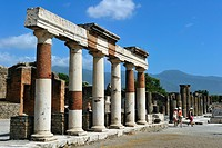 Italy, Campania, Pompei, archeological site listed as World Heritage by UNESCO, the Forum