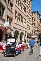France, Rhone, Lyon, historical site listed as World Heritage by UNESCO, the quarter St Jean in the Old Lyon