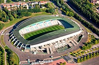 France, Loire_Atlantique, Nantes, La Beaujoire stadium aerial photography