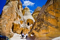 Fairy chimneys  Pasa Bagi  Cappadocia, Turkey