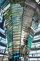 Reichstag, Bundestag glass dome German Parlement since 1999 by the architect Sir Norman Foster, Berlin, Germany.